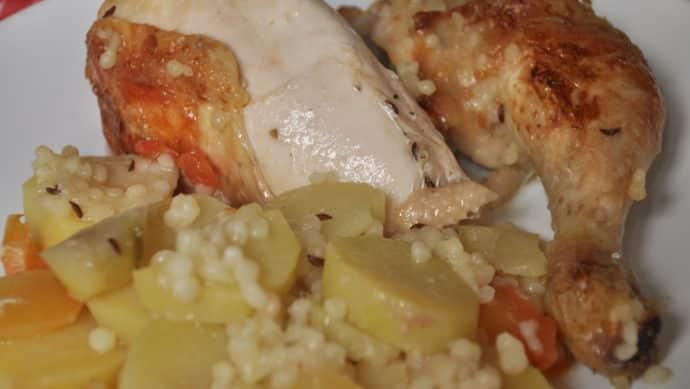 Kuře zapečené s tarhoňou a bramborem