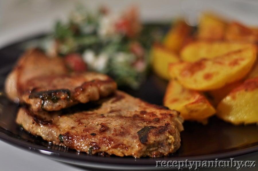 Hlavní fotka k receptu Krkovice v bylinkovo – hořčičné marinádě