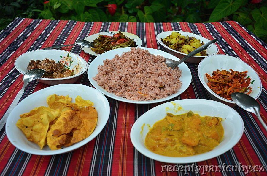 Výborná srílanská krmě