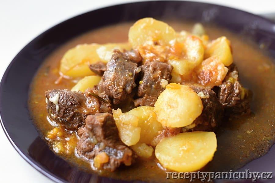 Pečené hovězí s bramborem a sýrem - kejdička