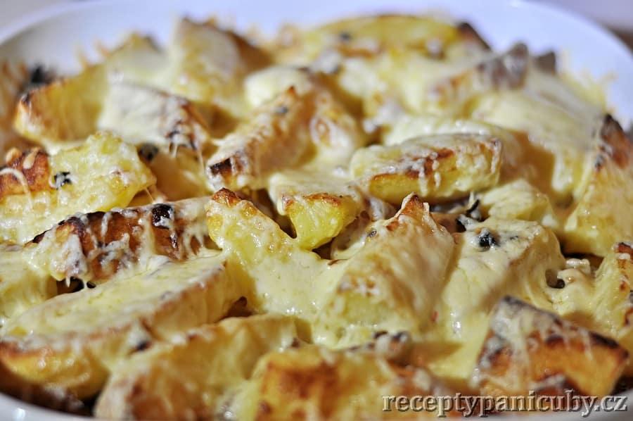 Pečené brambory se sýrem jééé