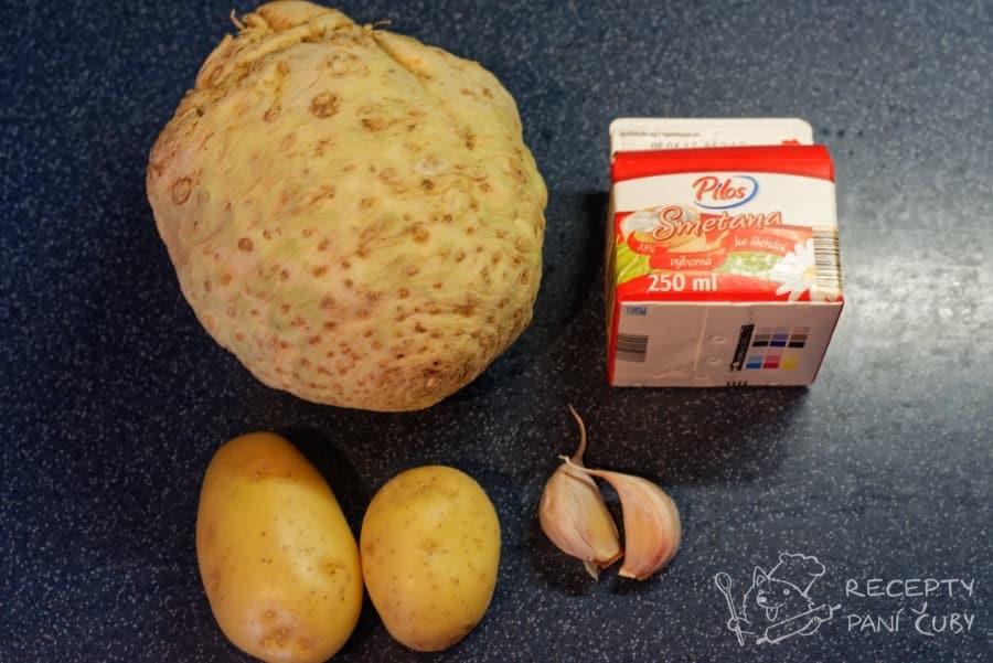 Celerové pyré - moc toho potřeba není :)