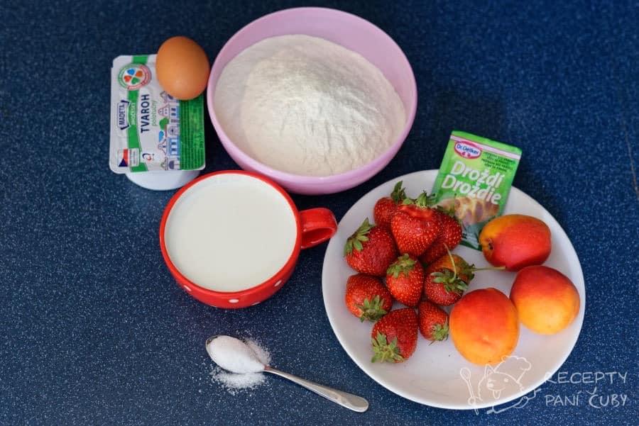 Kynuté ovocné knedlíky - připravíme si suroviny