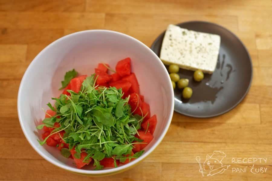 Melounový salát - trošku té trpké rukolové radosti
