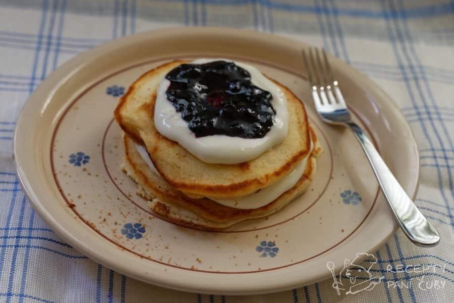 Domácí lívance bez droždí - moje nej varianta s tvarohem a marmeládou