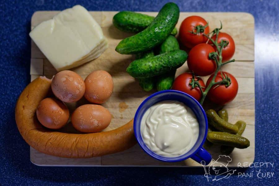 Tamten salát - zeleninovo-majonézový salát