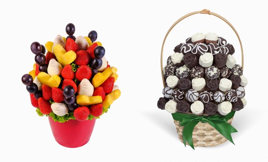 Ovocná kytice - ovocnomilové i čokoládomilové si užijí