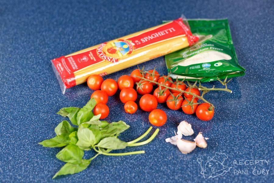 Špagety s rajčaty - přípravíme si suroviny