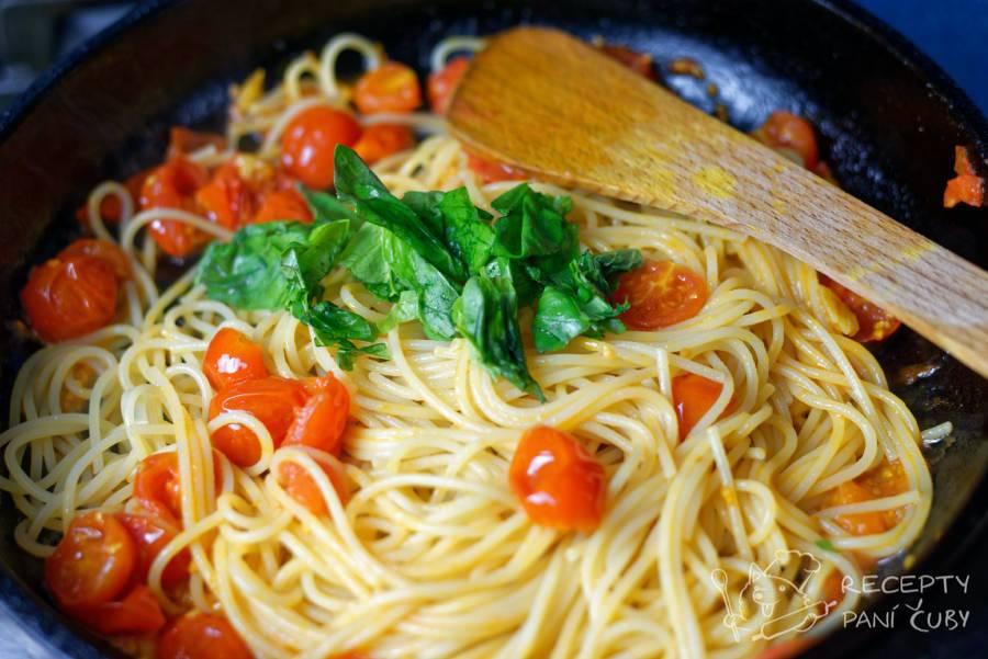 Špagety s rajčaty - italská trikolora mňam