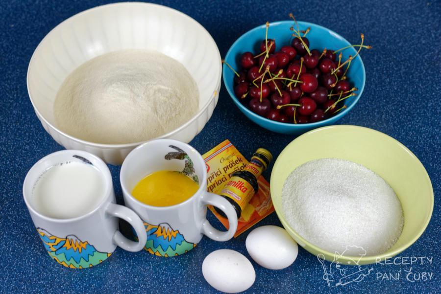Třešňová bublanina - připravíme si ingredience