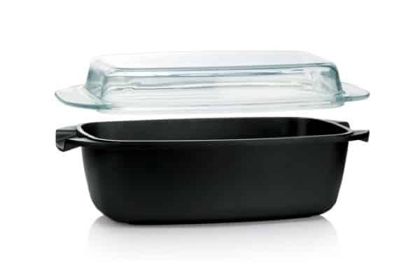 Průhledným poklopem můžete pokrm během pečení pohodlně kontrolovat