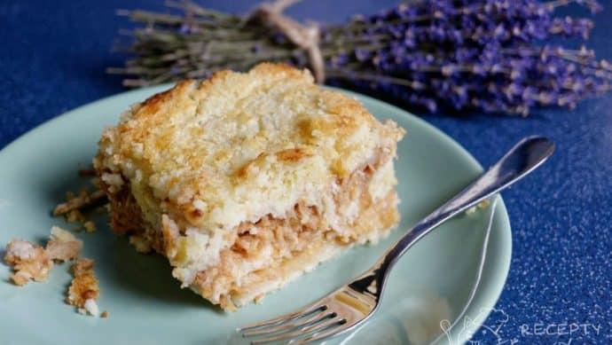 Jablečný koláč bez vajec - úžasný výsledek