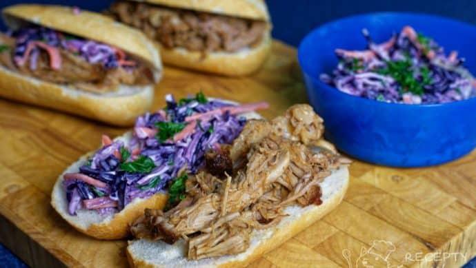Trhané vepřové maso - pulled pork v akci