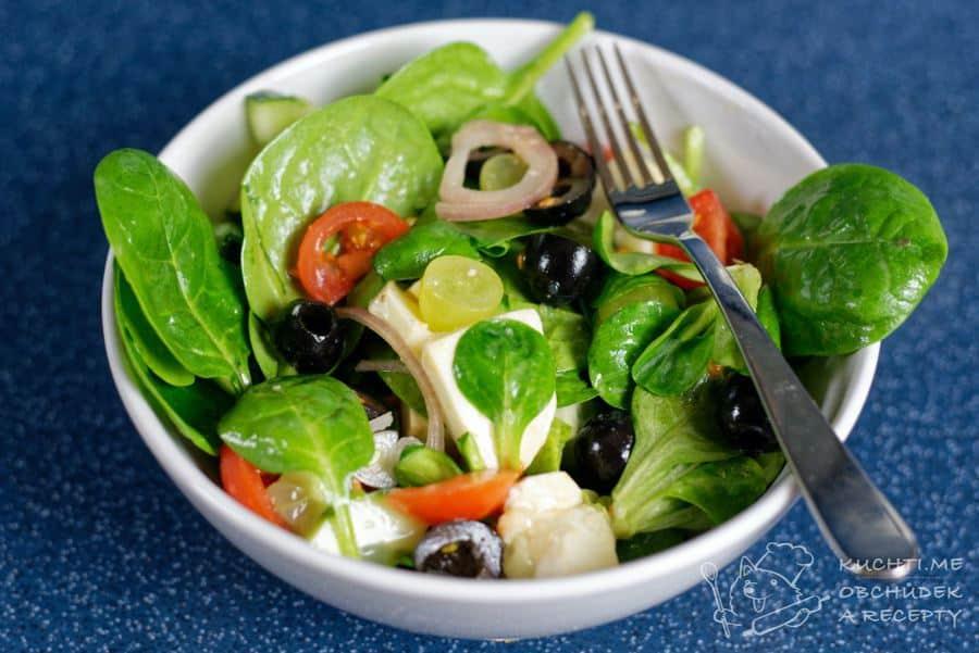 Hlavní fotka k receptu Zeleninový salát s hroznovým vínem