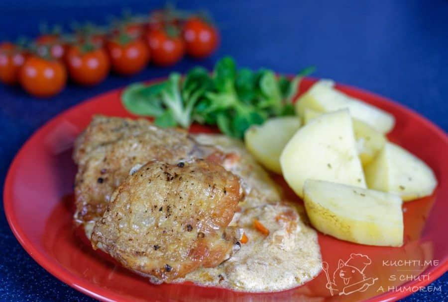Hlavní fotka k receptu Pečená kuřecí stehna po toskánsku