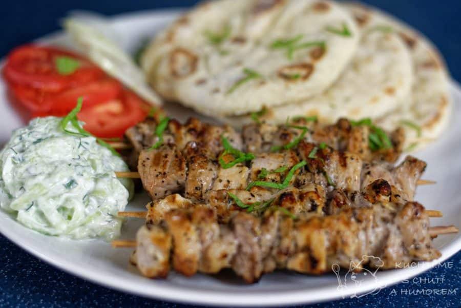 Hlavní fotka k receptu Výborné řecké vepřové souvlaki