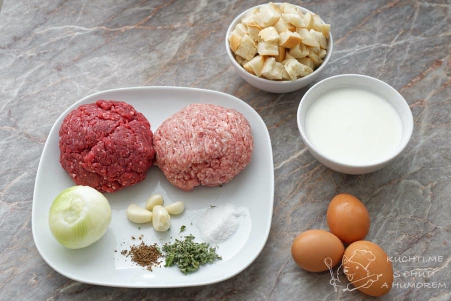 Nejlepší domácí sekaná - ingredience