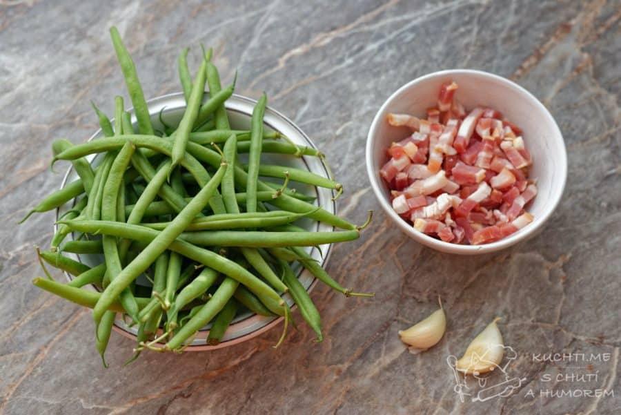 Zelené fazolky se slaninou - prosté a jednoduché