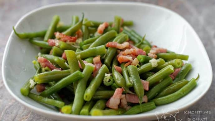 Zelené fazolky se slaninou - a je hotovo