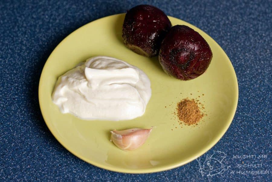 Jednoduchá pomazánka z červené řepy - ingredience