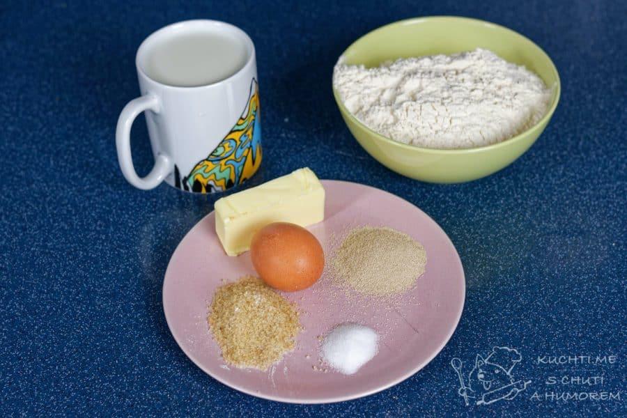 Domácí toustový chleba - ingredience