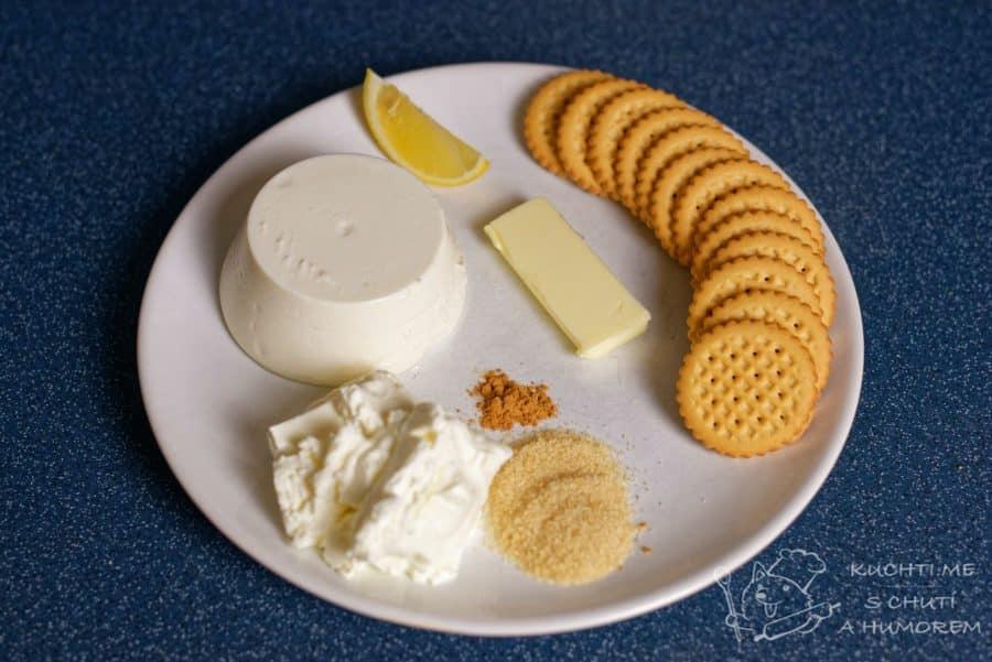 Nepečený cheesecake - ingredience