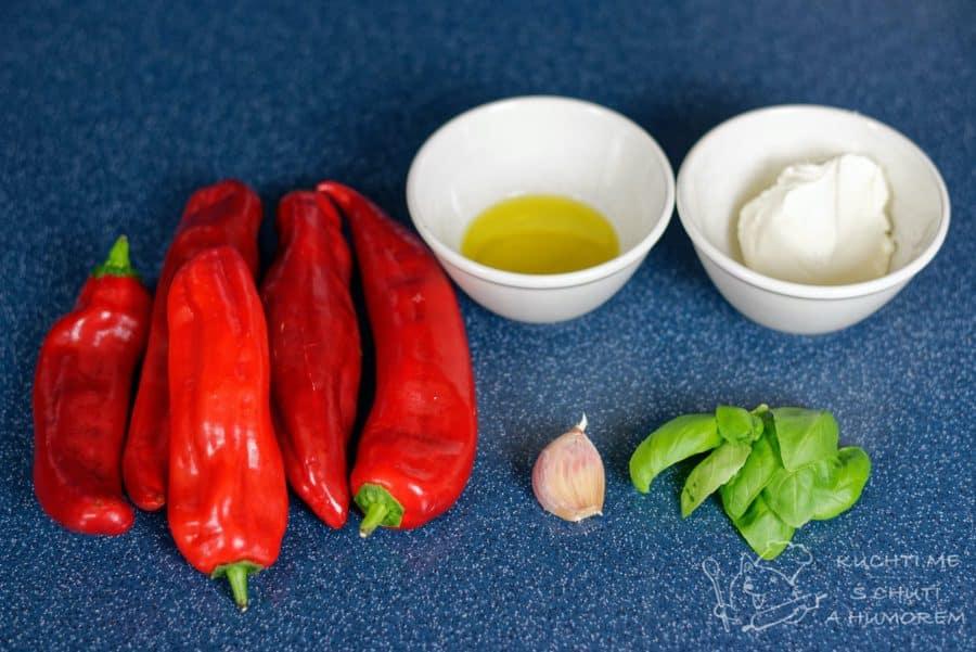 Pomazánka z pečených červených paprik - ingredience