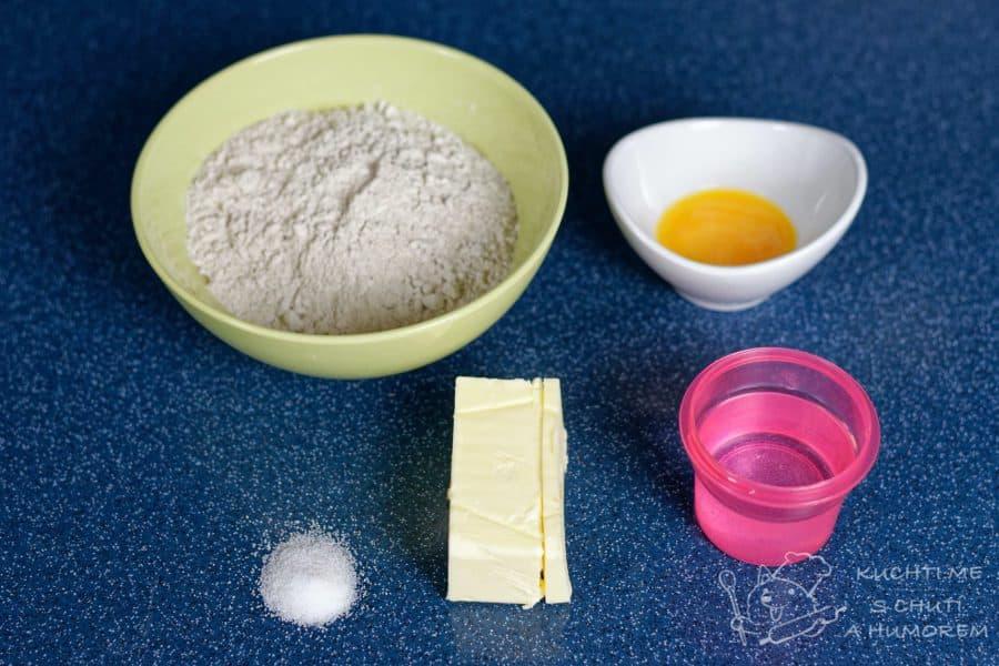 Quiche lorraine - ingredience na korpus