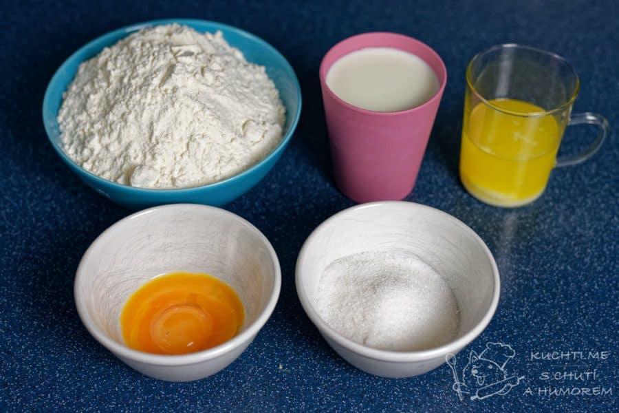 Honzovy buchty - ingredience na těsto