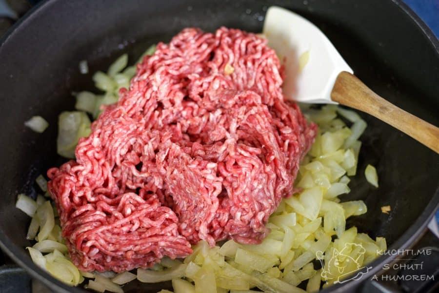 Pastýřský koláč - přidáme hovězí mleté maso