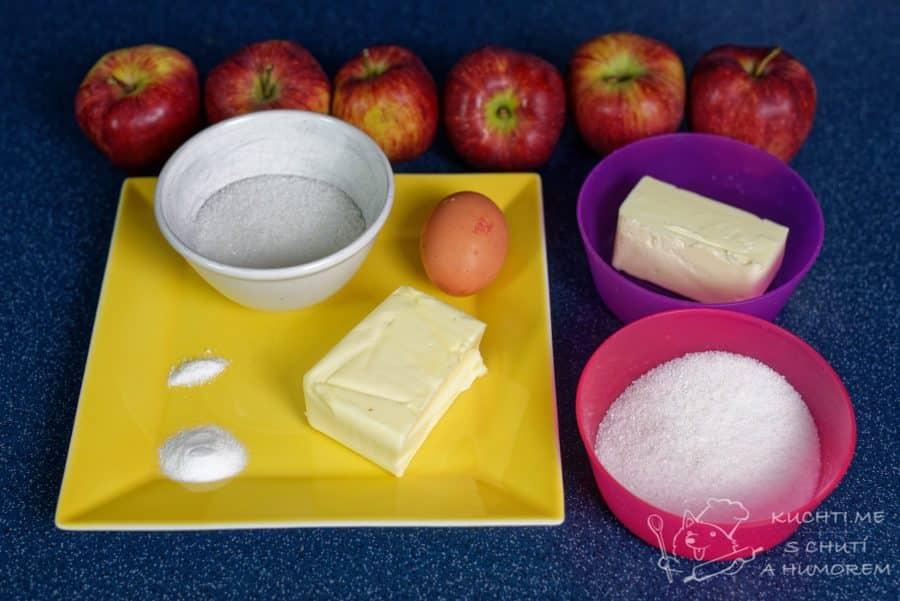 Obrácený jablečný koláč - ingredience