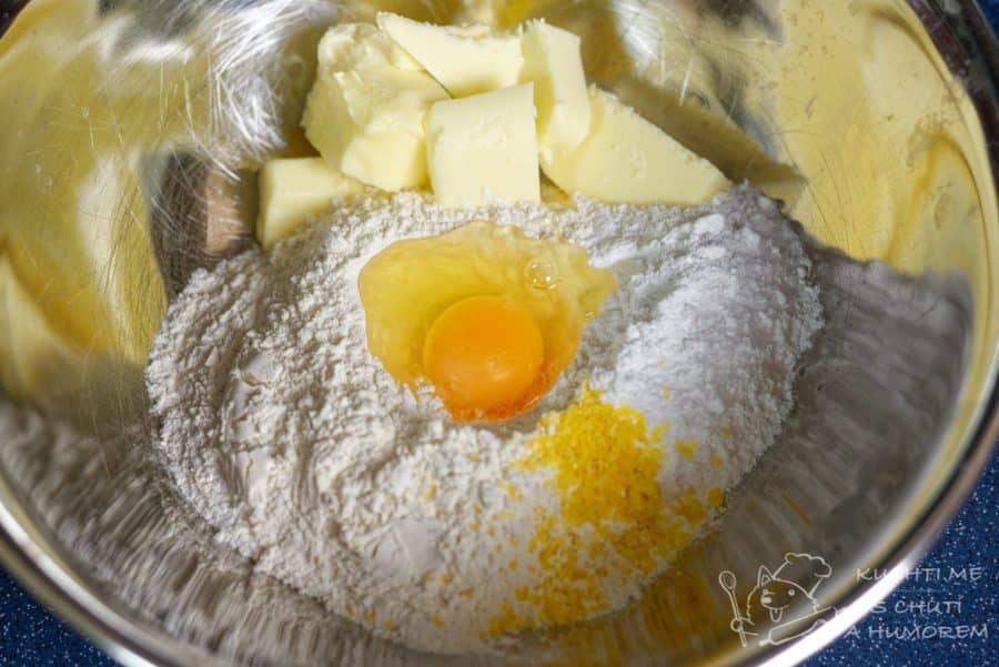 Tvarohový koláč - ingredience na těsto
