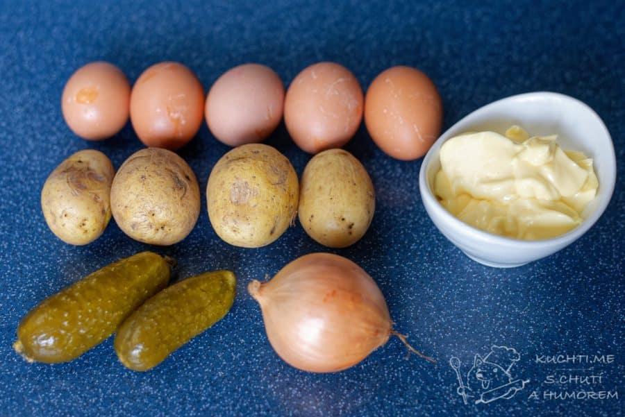 Vajíčkový salát - ingredience