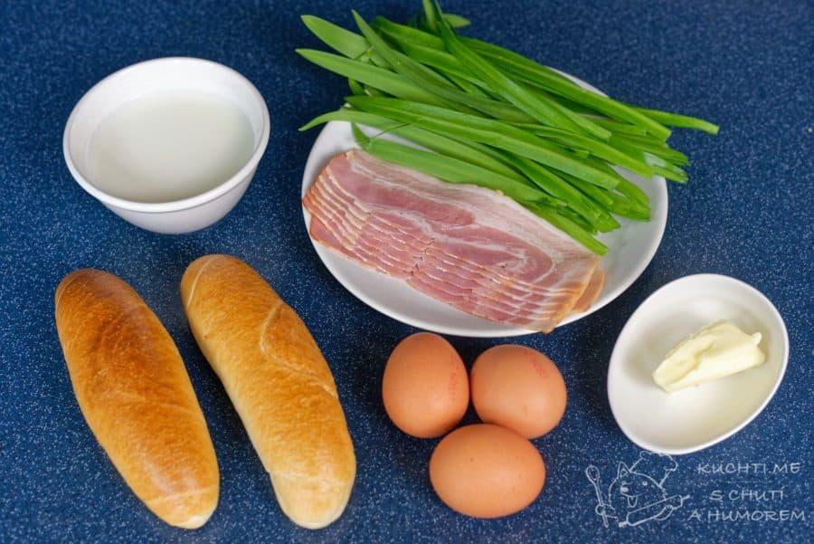 Kuře s nádivkou z medvědího česneku - ingredience na nádivku