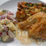 Kuře s nádivkou z medvědího česneku