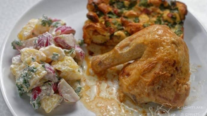 Kuře s nádivkou z medvědího česneku - krása