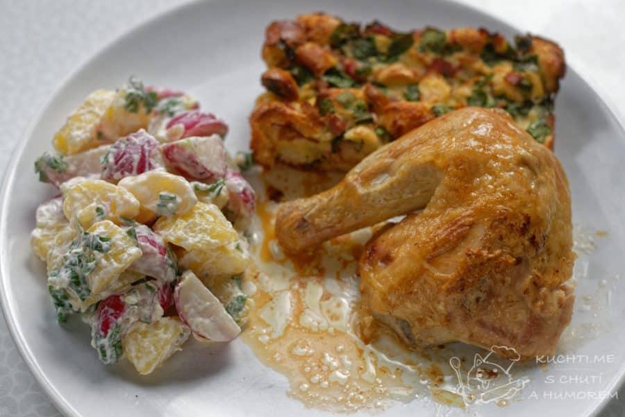 Hlavní fotka k receptu Kuře s nádivkou z medvědího česneku