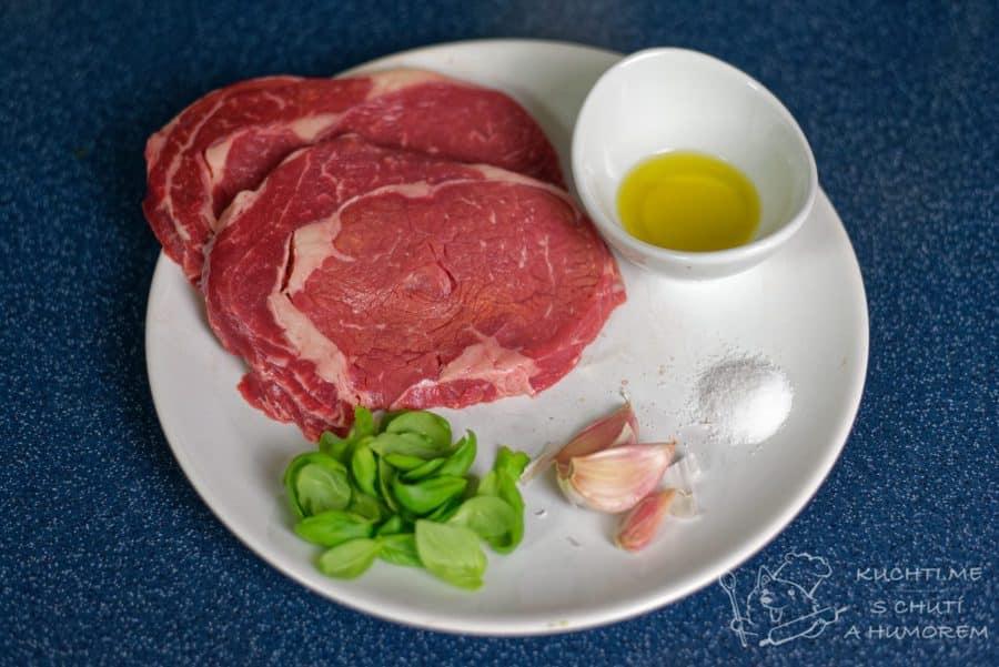 Hovězí steak – recept sous vide – ingredience