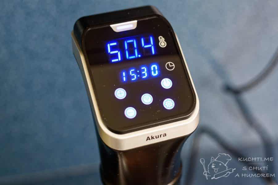 Sous vide G21 Akura wifi – jednoduchý dotykový dislej