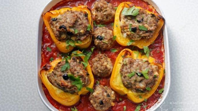Pečené plněné papriky - zapečená nádhera