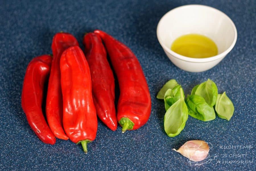 Dip z pečených paprik - ingredience