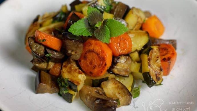 Zelenina připravená metodou sous vide - hotovo