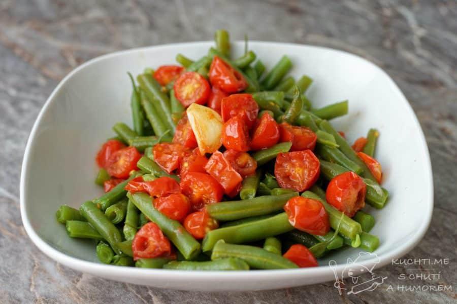 Hlavní fotka k receptu Zelené fazolky s rajčaty