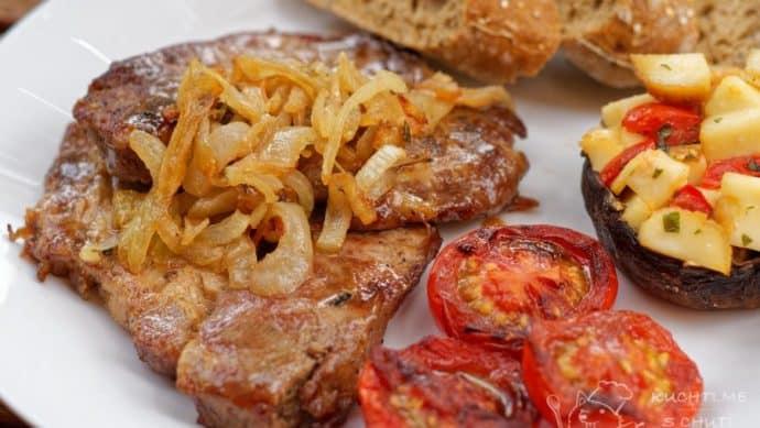 Grilovaný steak z krkovice v cibuli a saturejce - velké finále