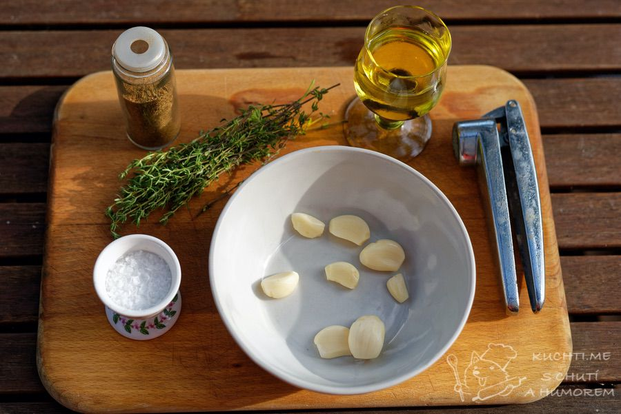 Žampionová bruschetta - ingredience