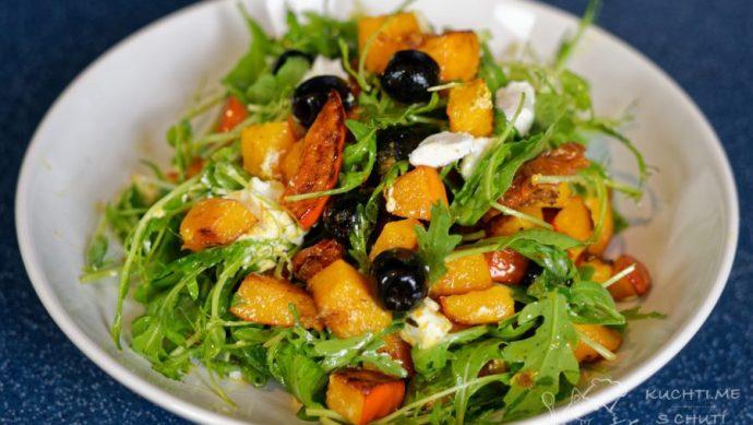 Dýňový salát - výborný salát je na světě