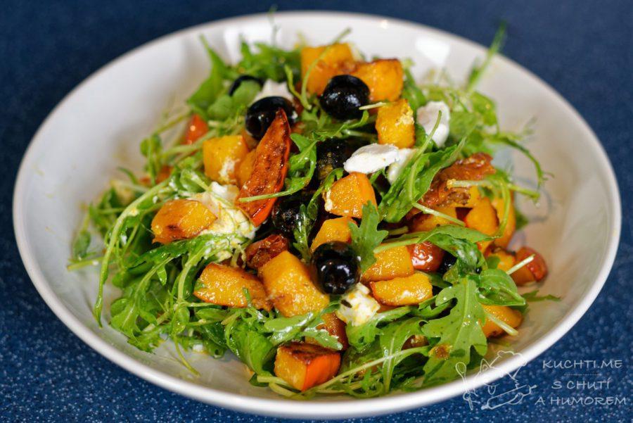 Hlavní fotka k receptu Dýňový salát s kozím sýrem